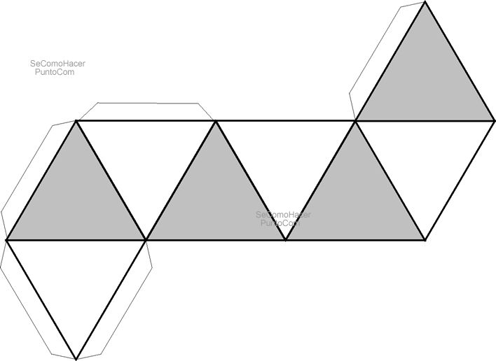 Figura para hacer una pirámide doble (para guirnalda)