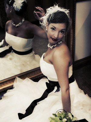 What a sweet looking bride......    retro vintage wedding hair 40s