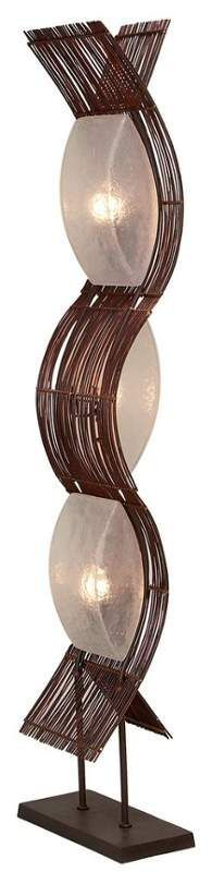 Aspire Home Accents 58829 Liam Abstract Floor Lamp Brown Lamps Floor Lamps