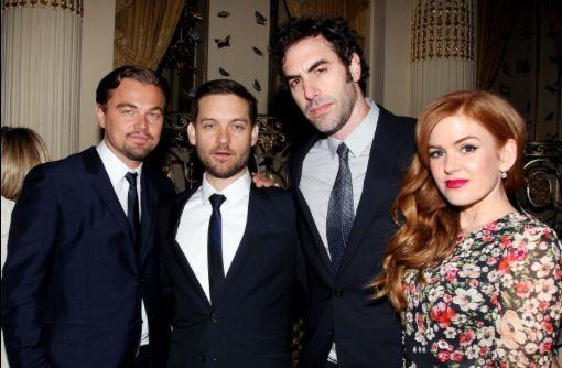 Leonardo DiCaprio, Tobey Maguire, Sacha Baron Cohen & Isla Fisher