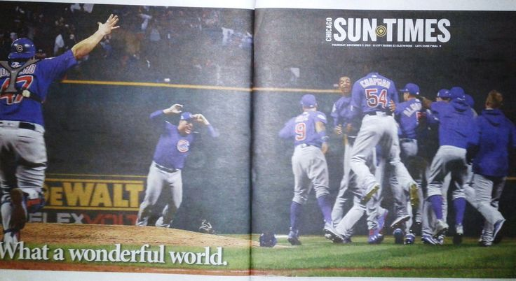 Cubs Win World Series!! Chicago Sun Times 11/3/16 Late Cubs Sports Final Edition
