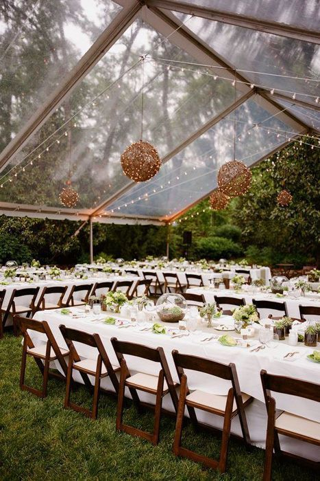 5462 best do it yourself weddings images on pinterest glamping choosing a clear tent for an outdoor wedding gives the impression of dining and dancing in solutioingenieria Gallery