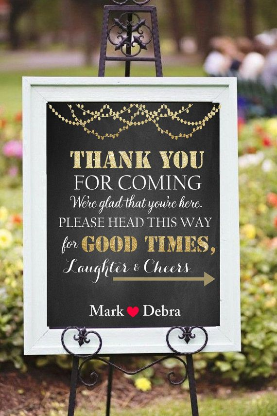 Thank you for coming sign printable DIY by chalkboarddesign