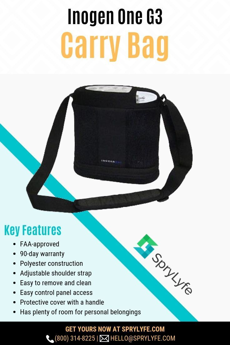 4d4b3c4e0 Protect your #Inogen One G3 oxygen concentrator with our specially-designed  carry bag.