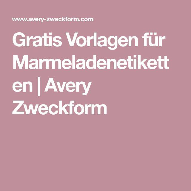 Gratis Vorlagen für Marmeladenetiketten | Avery Zweckform