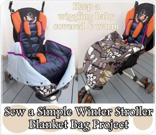 "Sew a Simple Winter Stroller Blanket Bag Project Homesteading  - The Homestead Survival .Com     ""Please Share This Pin"""