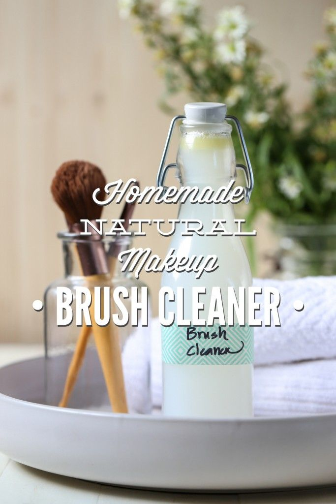 Homemade Natural Makeup Brush Cleaner. A simple, natural, and affordable makeup brush cleaner! This brush cleaner can be used daily or weekly to clean makeup brushes and break the cycle of bacteria and breakouts.
