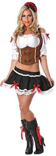 Delicious Fetching Wench Costume, Multicolor, Small  #Costume #Delicious #Fetching #Multicolor #SexyHalloweenCostume #Small #Wench Halloween Spirit
