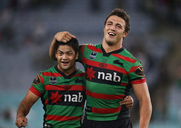 I love this photo of the two boys Sam Burgess & Issac Luke