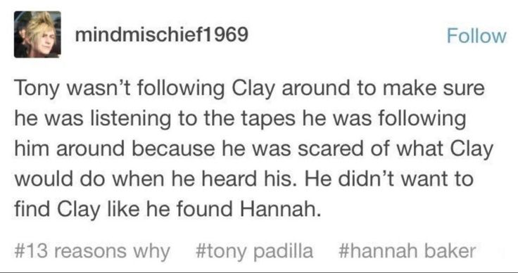 But of course we can assume that the real reason Tony was following Clay all over the place was this: