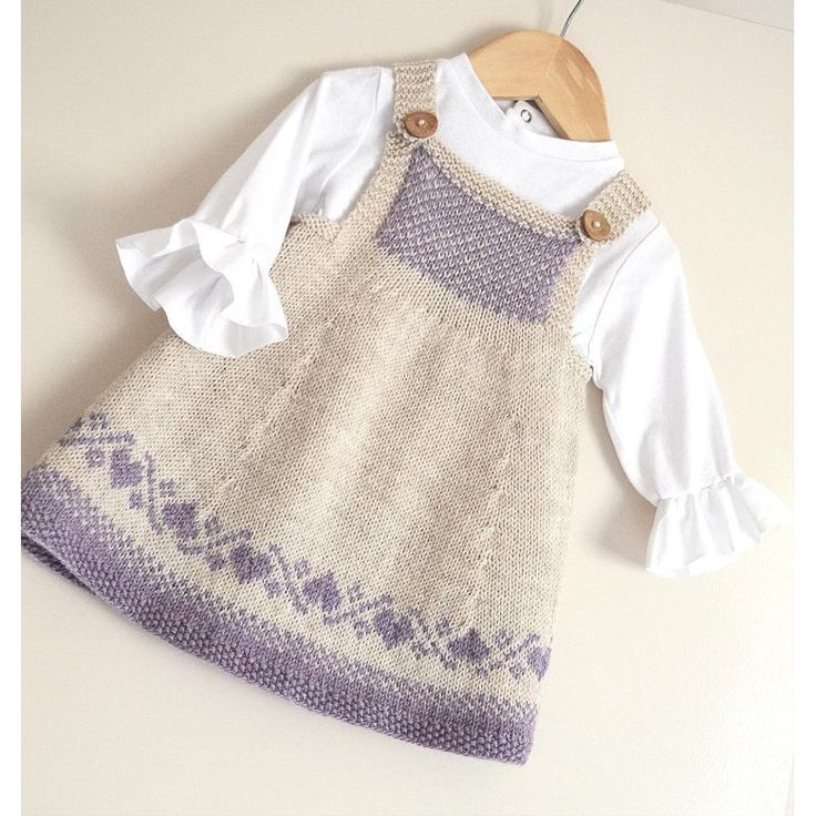 Luv U Forever Pinafore Dress – P090 Knitting pattern by OGE Knitwear Designs