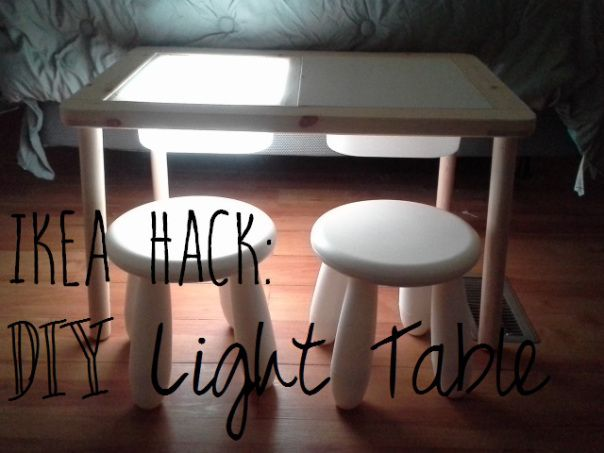 Ikea Hack! Ikea Flisat Children's Table + storage bins and LED light strip = Custom Light Table for under $125!