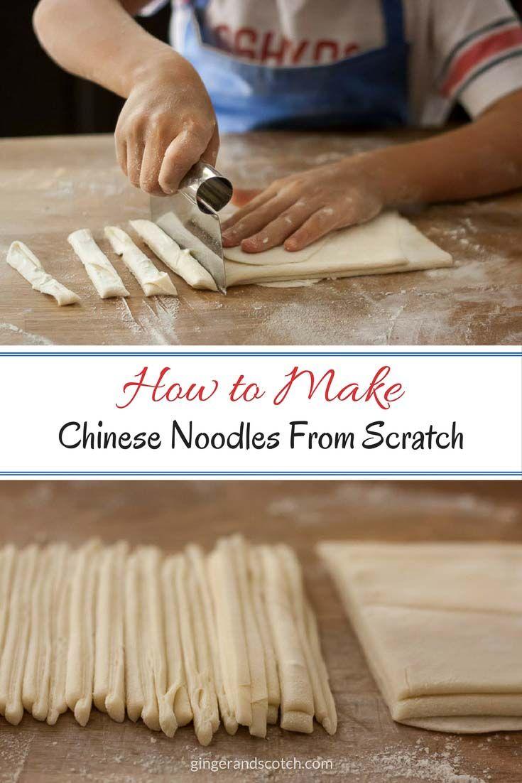 Homemade Chinese Noodles From Scratch via @gingerandscotch