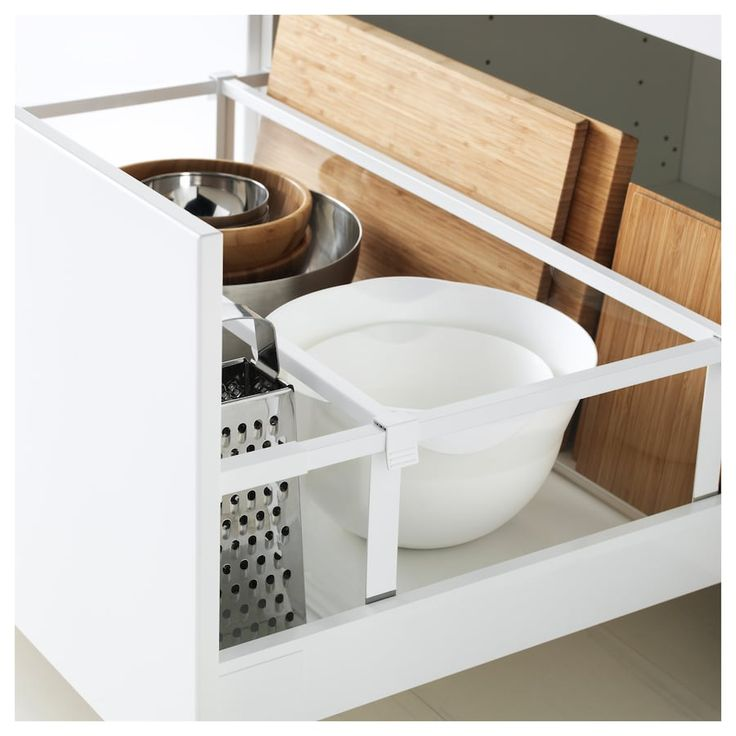 MAXIMERA Drawer, high - white 80x60 cm | Ikea organisation cuisine, Astuce deco rangement ...