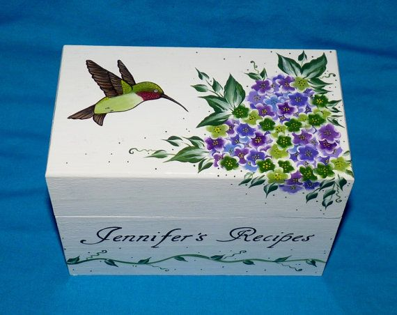 Decorative Recipe Box Amazing 117 Best Hand Painted Recipe Boxes Images On Pinterest  Recipe Design Inspiration
