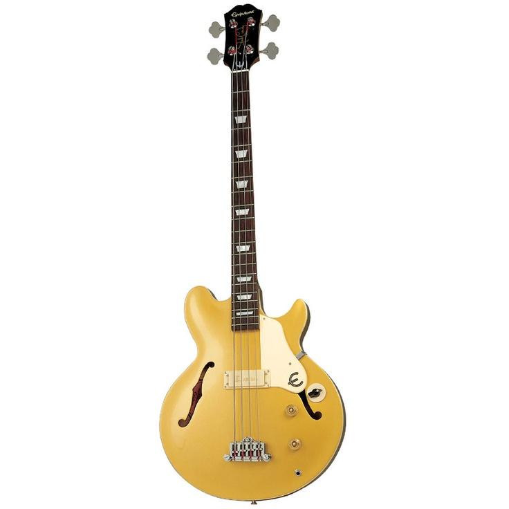 Contra Baixo Epiphone Jack Casady Bass Signature 4 Cordas Passivo Metallic Gold   Musical Grellmann Instrumentos Musicais