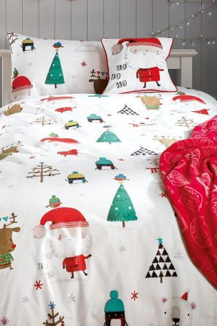 Add a little extra excitement to your kids bedroom this year with this Christmas Bed Set from Next.