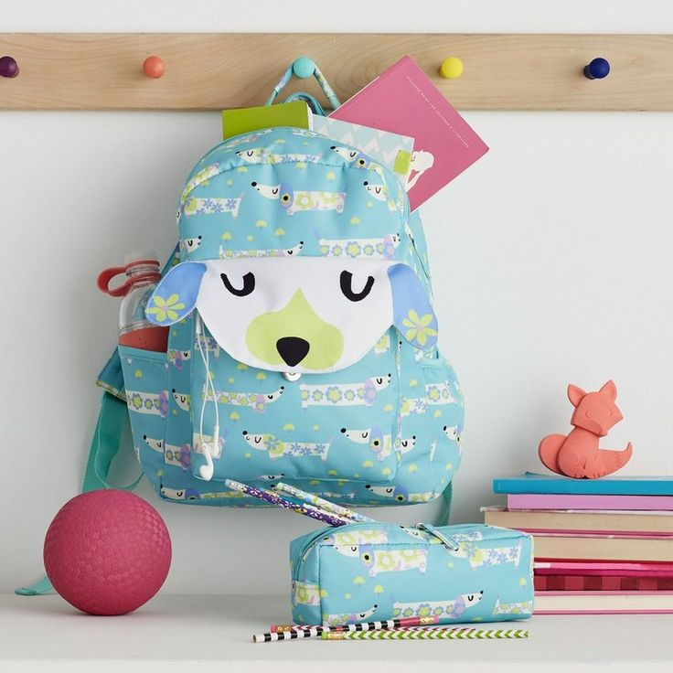 Daisy Dog Backpack/Pencil Case Set