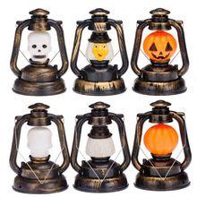 Halloween accessoire décoratif citrouille sorcière lanterne main crâne lampe Ghosty rire lumière(China (Mainland))