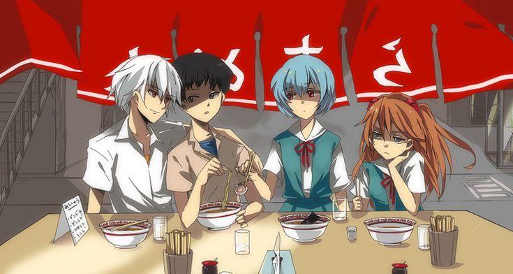 anime ramen bowl with chopsticks