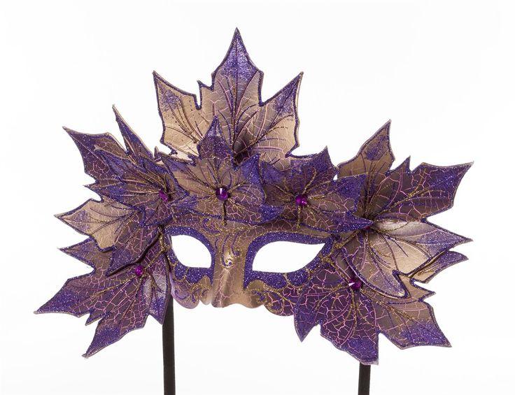 Maske Venedig mit Blättern - lila | Venezianische Masken | Masken | Masken & Schminke | Karneval Wagner