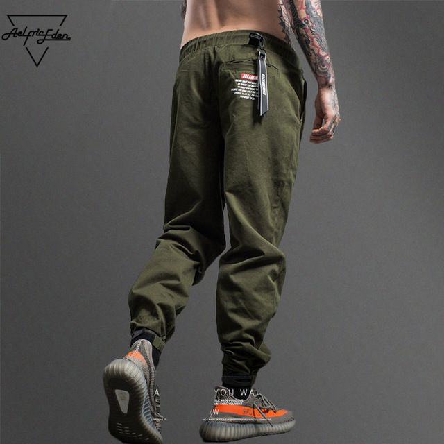Limited Offer $24.25, Buy Aelfric Eden Camouflage Tactical Cargo Pants Men Joggers Military Justin Bieber Casual Pants Hip Hop Ribbon Streetwear Trousers