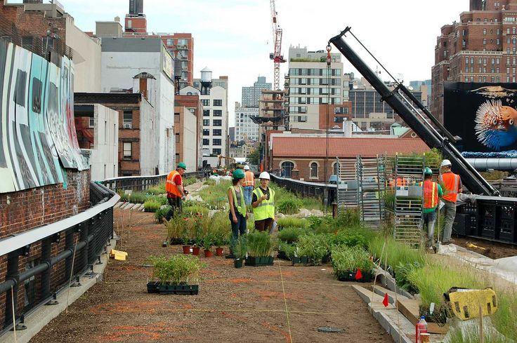 costruzione high line - new york - parco - ex ferrovia sopraelevata