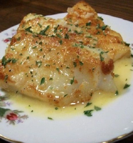 Oven Baked Sole with Lemon Sauce #fish #sauce #oven