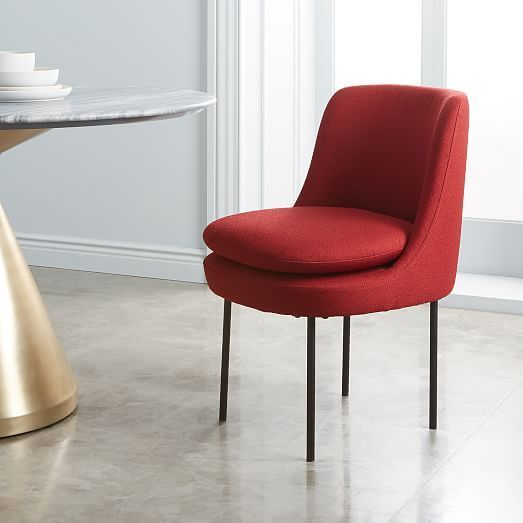 Modern Curved Upholstered Dining Chair in 2018 Dining Room Design