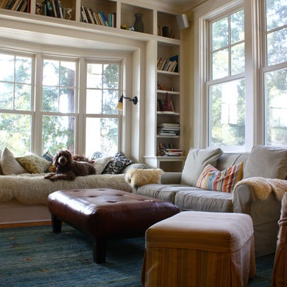 Cool Book Shelf Placement! Furniture For Bay Window Area Design, Pictures,  Remodel, Part 68