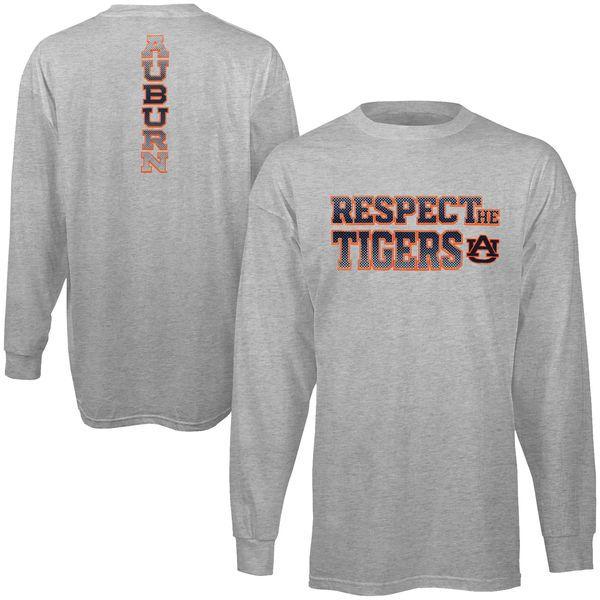 Auburn Tigers adidas Respect Long Sleeve T-Shirt – Gray - $23.99