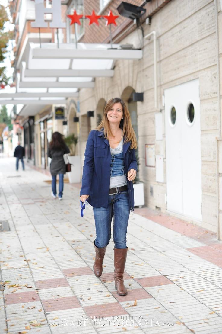 Caminando por la calles de Madrid dirección al foro