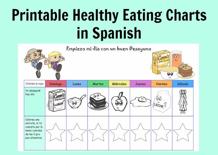 Spanish Days of the Week: Meal Charts
