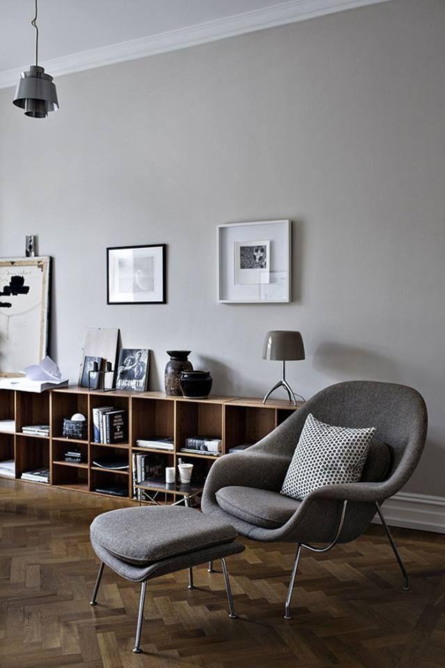 Love love love light grey walls...so elegant, so functional