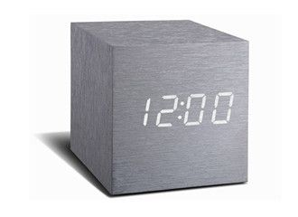 MAXI Cube Aluminium Click Clock - MAXI Cube Click Clock - Gingko Electronics...2015 is all about BIGGER