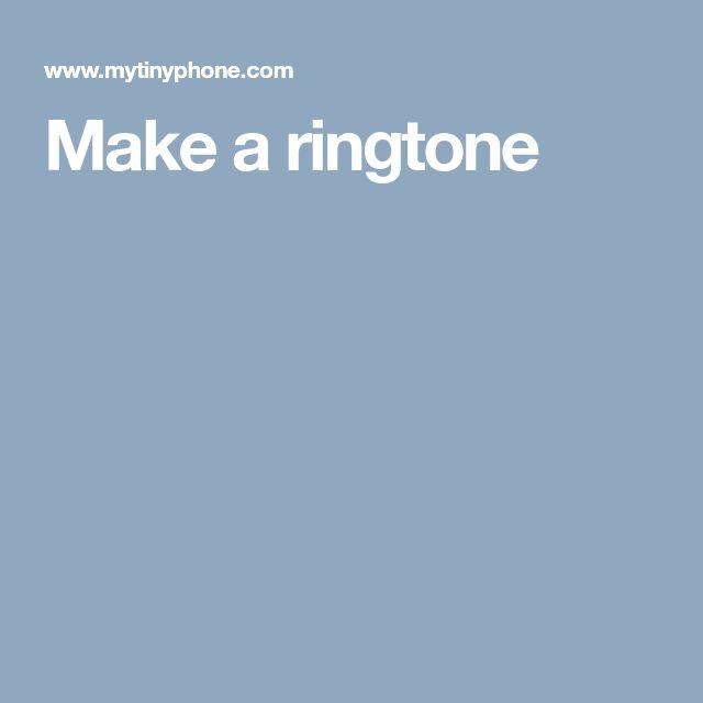 Make a ringtone