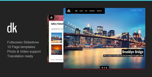DK v2.7  Theme For Photography Creative Portfolio  Blogger Template