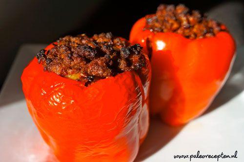 Gevulde Rode Paprika - Paleo Recepten