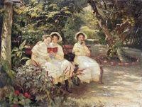 Мясоедов Григорий Григорьевич (1834-1911).Три сестры в парке