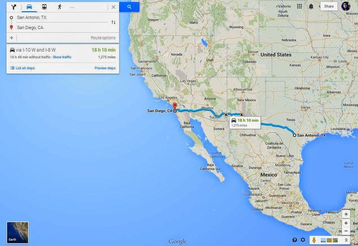 Roadtrippin' - San Antonio to San Diego