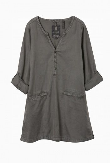 Sepia Smock | Cotton and linen smock dress