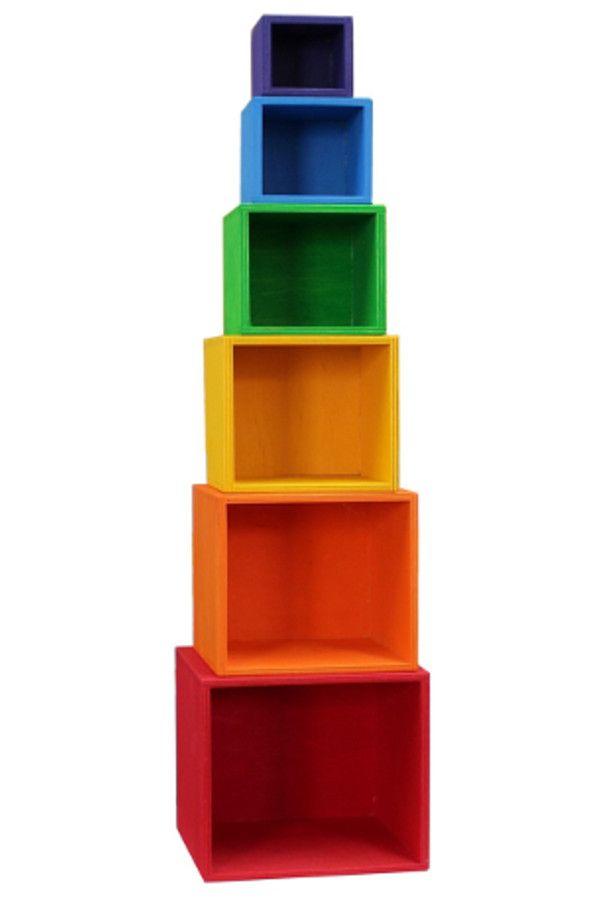 Set legno6 colorato di grande Grimms pezzismaltato W2YHe9DIEb