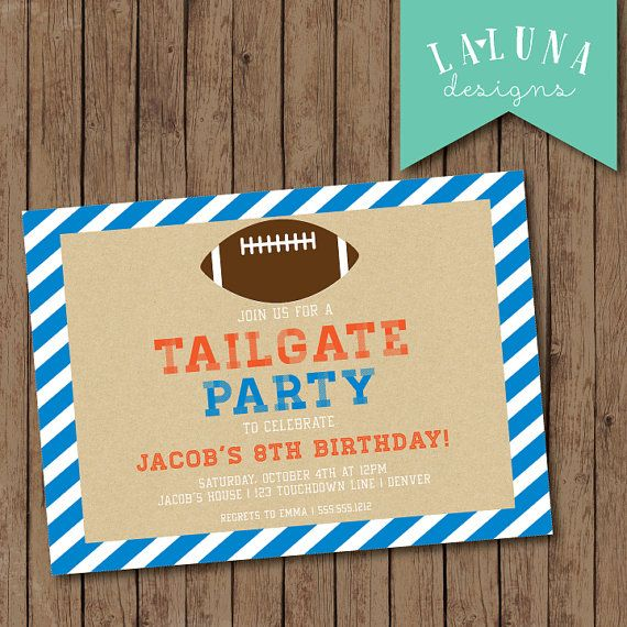 25 best images about Football birthday invitations on Pinterest