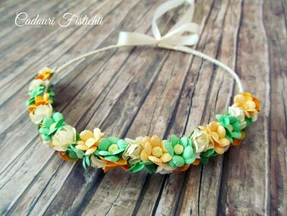 Handmade  Bridal  Floral  Mint  Wreath by CadouriFistichii on Etsy
