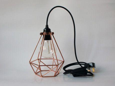 The Electrical Shop Copper Diamond Cage Light - Trouva