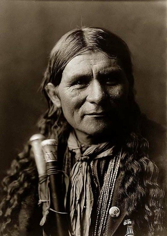 Edward Curtis -- a Tewa Pueblo Indian. (Antique photo of Native American)