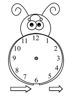 The Grouchy Ladybug Time Math Centers/Activities
