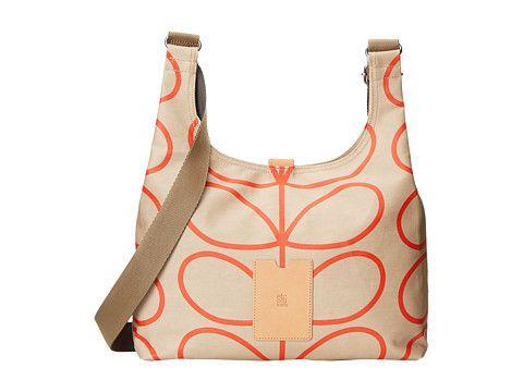 Orla Kiely Matt Laminated Giant Linear Stem Print Midi Sling Bag Stone - Zappos.com Free Shipping BOTH Ways