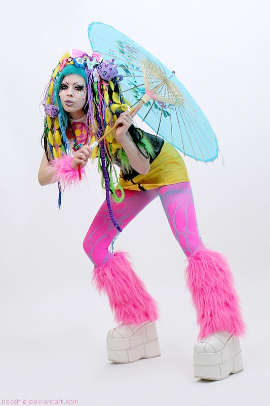 Cute Colorful #CyberGothGirl #CyberGoth