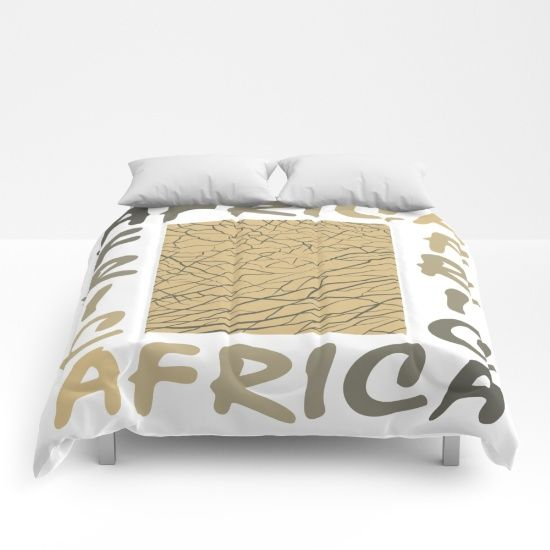 Africa - background with text and texture elephant  Comforters